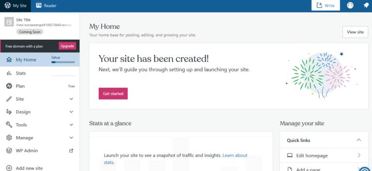 gratis blog wordpress