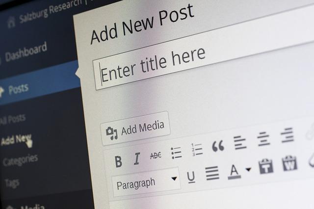 wordpress blogpost schrijven